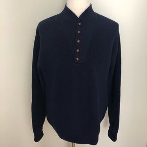 VTG LL Bean 1/4 button wool popover sweater
